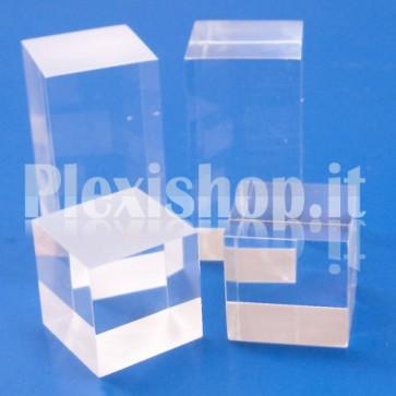 Cubetto 40x40x40 - 2 lati satinati in plexiglass