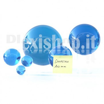 Sfera in Plexiglass Azzurro da 100mm
