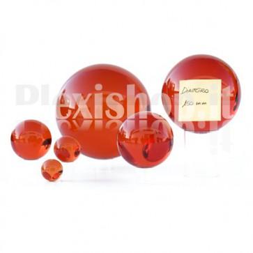 Sfera in Plexiglass Rosso da 150mm