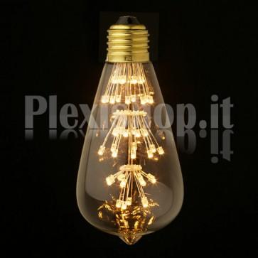 Lampadina Edison LED 3W - Retrò 64mm