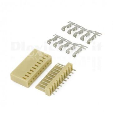 50 Connettori PCB 10 vie 2,54mm