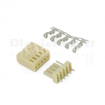50 Connettori PCB 5 vie 2,54mm