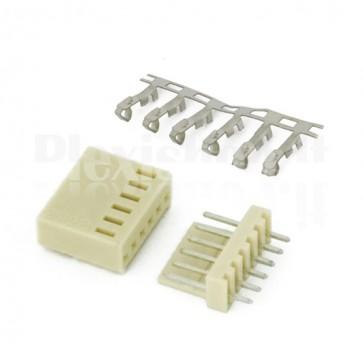 50 Connettori PCB 6 vie 2,54mm
