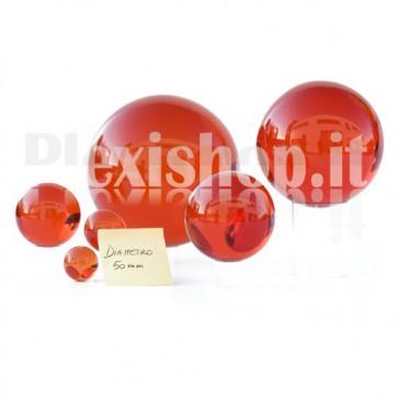 Sfera in Plexiglass Rosso da 50mm