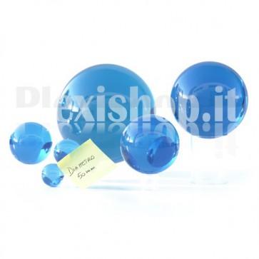 Sfera in Plexiglass Azzurro da 50mm