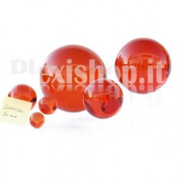 Sfera in Plexiglass Rosso da 80mm