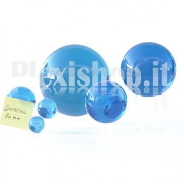 Sfera in Plexiglass Azzurro da 80mm