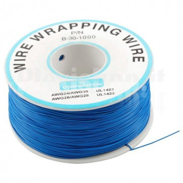 Bobina Cavo wire/wrapping 30AWG - Blu
