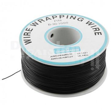 Bobina Cavo wire/wrapping 30AWG - Nero