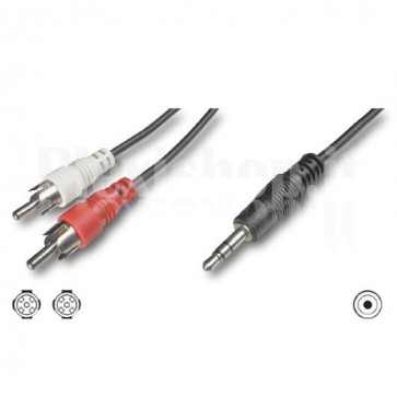 Cavo Stereo Jack 3, 5 mm a 2 x RCA maschio 3 mt