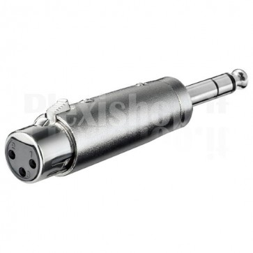 Adattatore XLR Cannon Femmina ad Audio 6,35mm Maschio Stereo