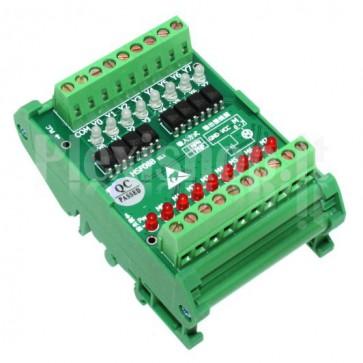 Modulo PLC300 Optoisolato a fotoaccoppiatori per PLC a 8 canali, 2.5A