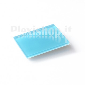 Plexiglass Bicolato - Celeste/Bianco