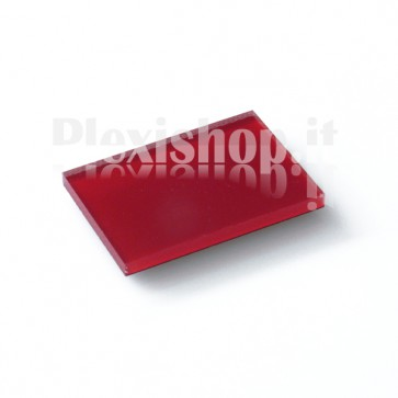 Plexiglass Bicolato - Rosso/Trasparente