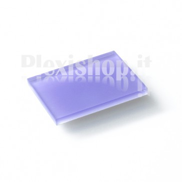 Plexiglass Bicolato - Viola/Bianco