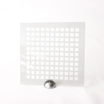 Plexiglass Preforato Trasparente - Square 15