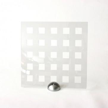 Plexiglass Preforato Trasparente - Square 40