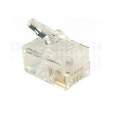 Plug Telefonico RJ14/RJ11 6 poli 4 contatti