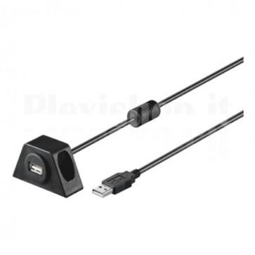 Prolunga USB 2.0 fissabile con viti 2 m Nero