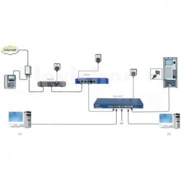 Switch 24 Porte Gigabit + 2 Porte Fibra SFP Blu TEG1024T