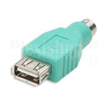 Adattatore PS2 Maschio / USB A Femmina