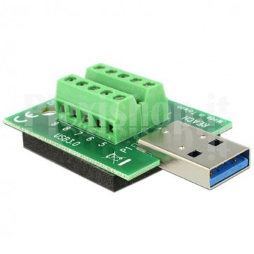 Adattatore USB 3.0 Maschio Terminal Block 10 pin