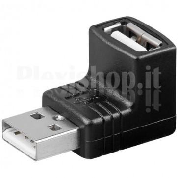 Adattatore USB A maschio/A femmina 90°