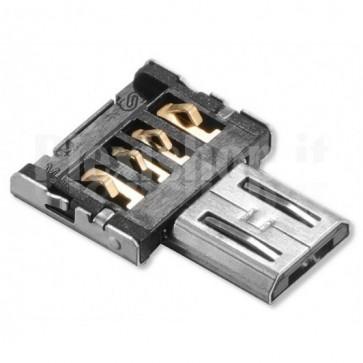 Adattatore USB OTG Micro B Maschio per USB A Maschio