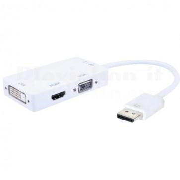 Adattatore 3 in 1 DisplayPort 1.2 a HDMI/DVI/VGA