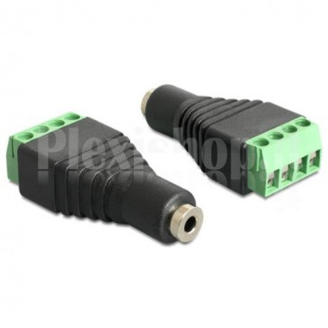 "Adattatore Audio 2.5"" Femmina a Terminal Block 4 pin"