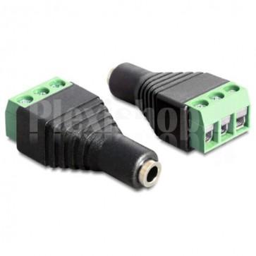 Adattatore Audio 3.5'' Femmina Terminal Block 3 pin