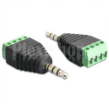 Adattatore Audio 3.5'' Maschio a Terminal Block 4 pin
