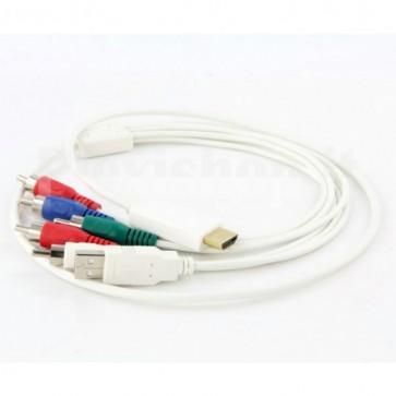 Adattatore da HDMI a YPbPr + Audio R/L + USB