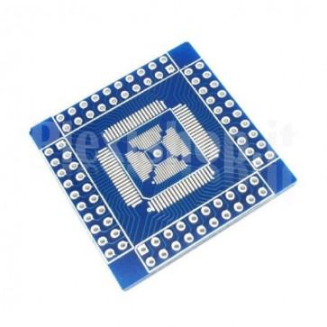 Adattatore da SMT a DIP compatibile per integrati da 16pins a 80pins in formato QFN / QFP / TQFP / LQFP