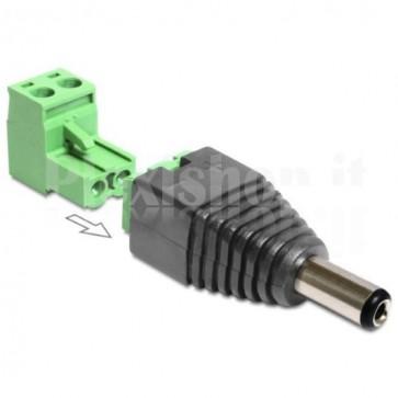 Adattatore DC 2.5x5.5 mm Maschio Terminal Block 2 pin