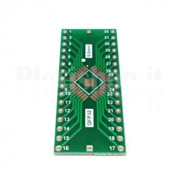 Circuito PCB di conversione QFP32 a DIP32