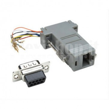 Adattatore Modulare DB 9p. M / RJ45 8 fili