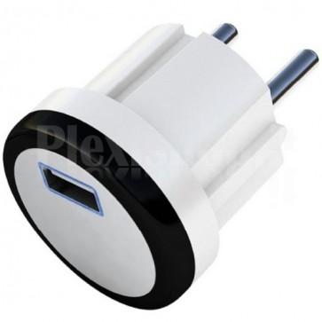 Alimentatore Universale a 1 Porta USB Bianco 2,1A