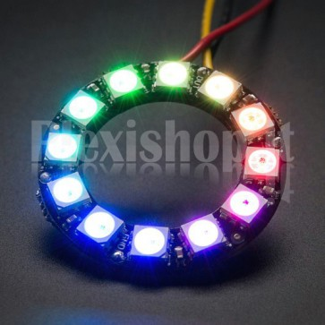 Anello Led Ø 38 mm NeoPixel RGB con 12 LED SMD WS2812