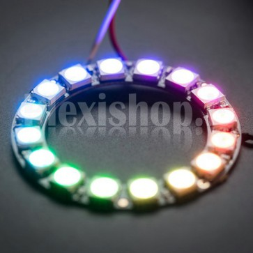 Anello Led Ø 44 mm NeoPixel RGB con 16 LED SMD WS2812