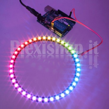 Anello Led Ø 125 mm NeoPixel RGB con 40 LED SMD WS2812