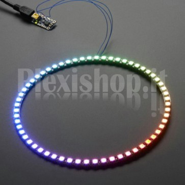 Anello Led Ø 157 mm NeoPixel RGB con 60 LED SMD WS2812