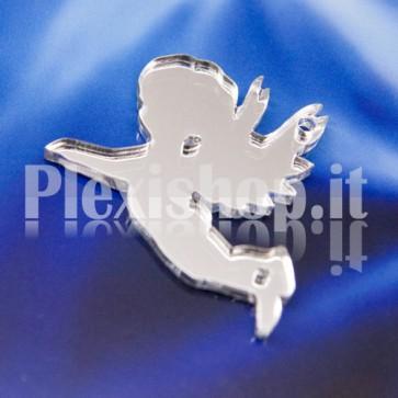 2 Angioletti Specchiato Argento in Plexiglass