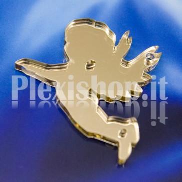 2 Angioletti Specchiato Oro in Plexiglass