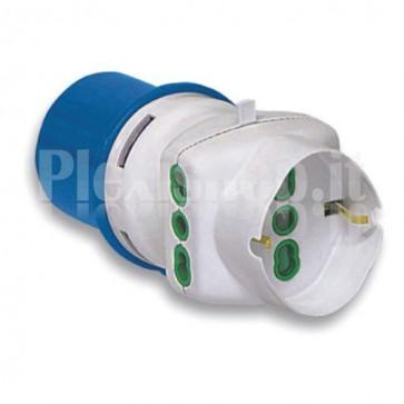 Adattatore industriale con spina 2P+T 16A