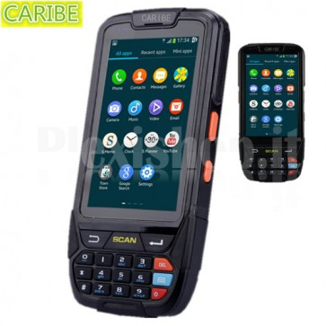 Barcode scanner codici a barre Android Caribe PL-40L con GPS, 4G, Wi-Fi, Bluetooth