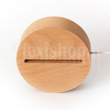 Base a led in legno tonda - Luce RGB