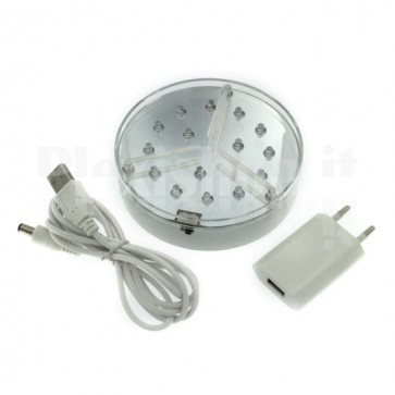 Base luminosa a Led BIANCO - 100mm