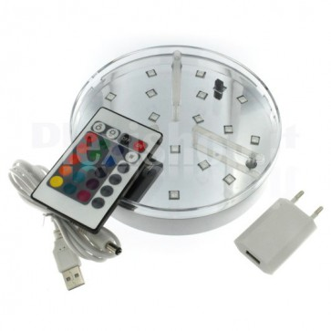 Base luminosa a Led RGB - 150mm