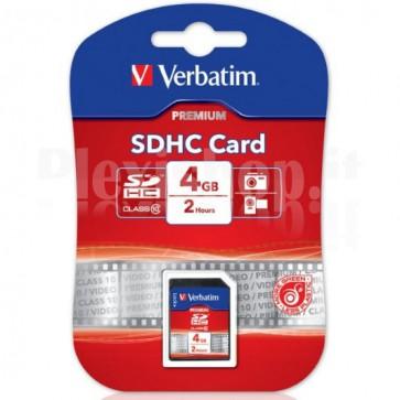 SecureDigital SDHC classe 10 Verbatim 4 GB